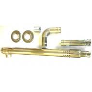 Дымоход коаксиальный EMF | RMF | 1000 мм | STRIGHT L-type