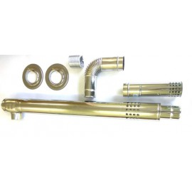 Дымоход коаксиальный 75/1000L | STRIGHT SPEA L-type | EMF | RMF