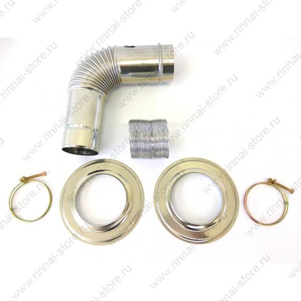 Удлиняющийся коаксиальный дымоход | SLIDE SPEA L-type | 1000 мм | EMF | RMF